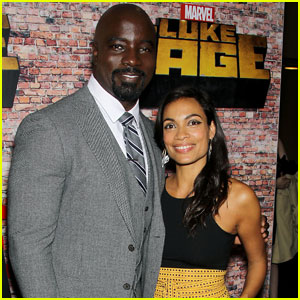 Rosario Dawson Attends 'Luke Cage' Premiere With Mike Colter