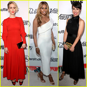Sarah Paulson, Laverne Cox, & Constance Zimmer Party It Up Before the Emmys