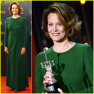 Sigourney Weaver Accepts Donostia Award, Talks Hillary Clinton & 'Alien'!
