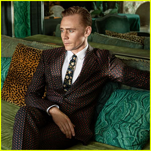 Tom Hiddleston Stars in New Gucci Campaign with Two Dogs!