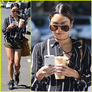 Vanessa Hudgens Grabs Grande Sized Iced Coffee in LA