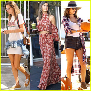 Alessanda Ambrosio Gets Ready for Fall at the Pumpkin Patch With Her Kids!