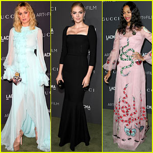 Brie Larson, Kate Upton, & Zoe Saldana Bring Their Men to LACMA Gala