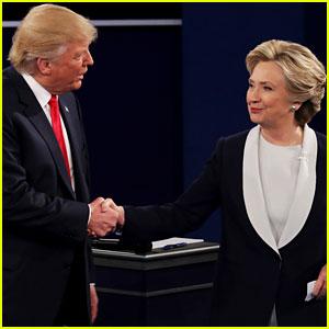 Trump v. Clinton (Credit: Just Jared)