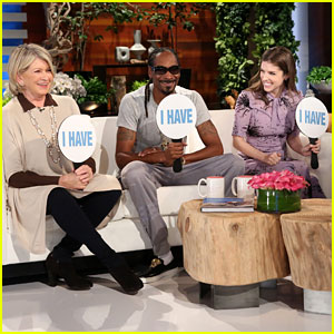 Martha Stewart, Snoop Dogg, & Anna Kendrick Play 'Never Have I Ever' with Ellen - Watch Now!