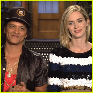 Emily Blunt & Bruno Mars Get Ready For 'SNL' in New Promo - Watch Now!