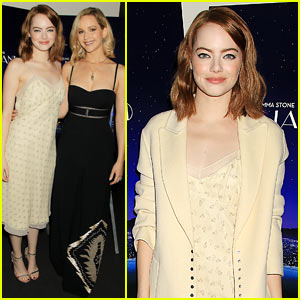 Emma Stone Gets Support from BFF Jennifer Lawrence at 'La La Land' Screening!