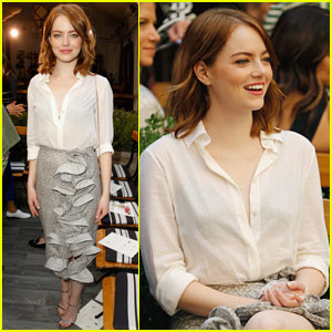 Emma Stone Stuns at the CFDA/Vogue Fashion Fund Event