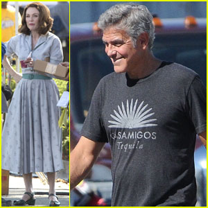 George Clooney Directs Julianne Moore in 'Suburbicon' Scenes