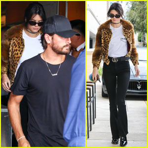 Kendall Jenner & Scott Disick Go Shopping with Extra Security