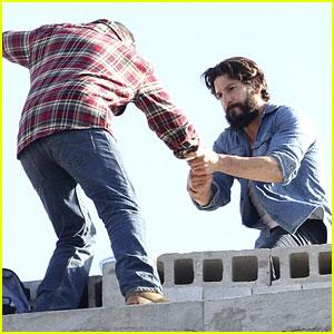 Jon Bernthal Films Stunts for 'The Punisher' in Brooklyn
