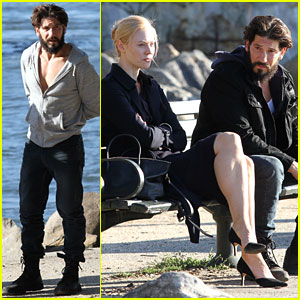 Jon Bernthal Films 'The Punisher' By the Water with Deborah Ann Woll!