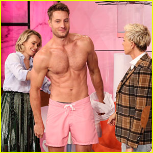 This is Us' Justin Hartley Strips Shirtless on 'Ellen' - Watch Now!