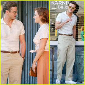 Justin Timberlake & Kate Winslet Take a Stroll While Filming Woody Allen Movie