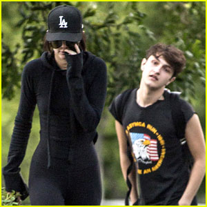 Kendall Jenner & Anwar Hadid Meet Up with Tyler the Creator in Calabasas