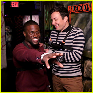 Kevin Hart Visits a Haunted House with Jimmy Fallon - Watch the Hilarious Video!
