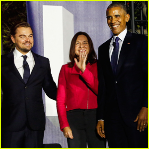 Leonardo DiCaprio Talks Climate Change With President Barack Obama at SXSL