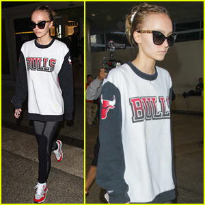Lily Rose Depp Arrives Back in LA After PFW 2016