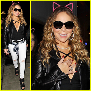 Mariah Carey Takes Kids To Au Fudge For Early Halloween Dinner!