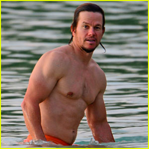 Mark Wahlberg Is So Ripped on the Beach in Barbados!