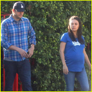Mila Kunis & Ashton Kutcher Are Big L.A. Dodgers Fans