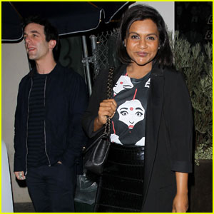 Mindy Kaling & BJ Novak Grab Friendly Dinner at Catch LA