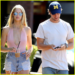 Patrick Schwarzenegger & Girlfriend Abby Champion Grab Afternoon Snacks!