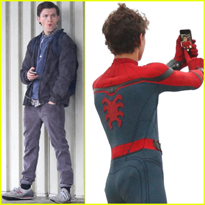 Tom Holland Snaps A Selfie While Filming 'Spider-Man: Homecoming'