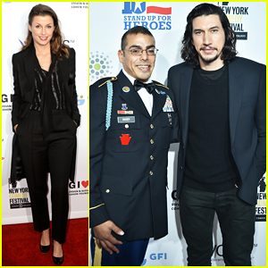 Adam Driver Watches Jon Stewart Roast Donald Trump at Stand Up for Heroes 2016!
