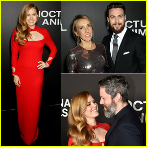 Amy Adams & Aaron Taylor-Johnson Bring Their Spouses to 'Nocturnal Animals' NYC Premiere!