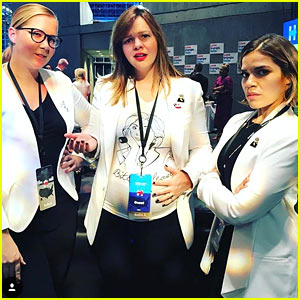 Amy Schumer, Amber Tamblyn, & America Ferrera Get Silly While Waiting For Presidential Election Results!