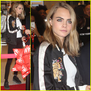Cara Delevingne Helps Open H&M Store at World Trade Center