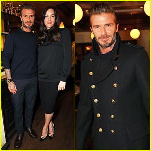 David Beckham Shows Off His Kent & Curwen Collection At Mr Porter Dinner!