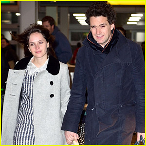 Felicity Jones Holds Hands with Boyfriend Charles Guard at JFK!