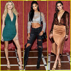 Hailey Baldwin, Chanel Iman, & Olivia Culpo Make it a Ladies' Night at Revolve Winter Formal 2016