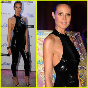 Heidi Klum Celebrates Her 'Ocean Drive' Cover at Art Basel