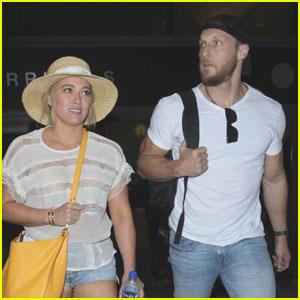 Hilary Duff & Boyfriend Jason Walsh Return From Vacation