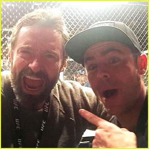 Hugh Jackman & Zac Efron Meet Up for UFC 205!
