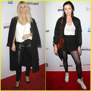 Julianne Hough & Ireland Baldwin Attend Airbnb Open Spotlight