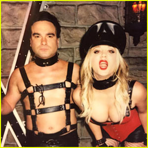 Kaley Cuoco & Johnny Galecki Get Kinky in 'Big Bang' Behind-The-Scenes Pic!