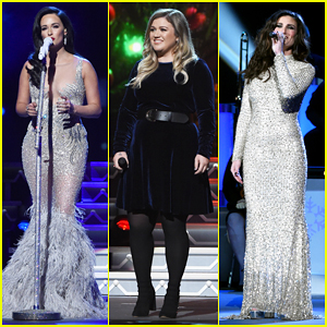 Kelly Clarkson, Kelsea Ballerini & Idina Menzel Represent The Ladies At CMA Country Christmas 2016!