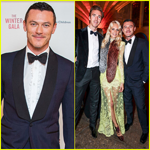 Luke Evans Helps Spread The Power Of Stories At Save The Children UK Winter Gala 2016!