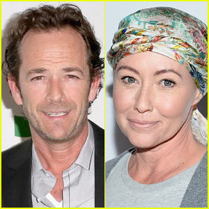 Luke Perry Pays Tribute to Shannen Doherty at '90210' Reunion