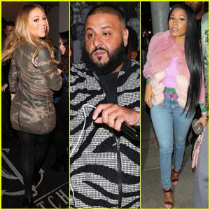 Mariah Carey & Nicki Minaj Support DJ Khaled at Book Launch