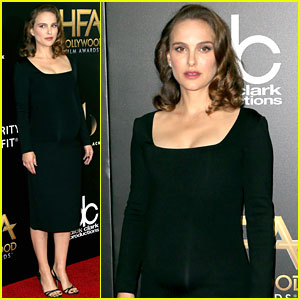 Pregnant Natalie Portman Is So Chic at Hollywood Film Awards 2016