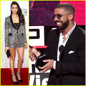 VIDEO: Drake & Nina Dobrev Have a 'Degrassi' Reunion at AMAs 2016!