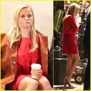 Reese Witherspoon Spends a Late Night on Set Filming 'Home Again'