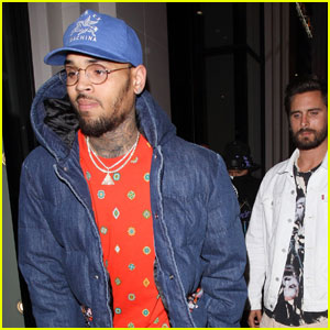 Scott Disick Attends 'Fear of God' Launch With Chris Brown