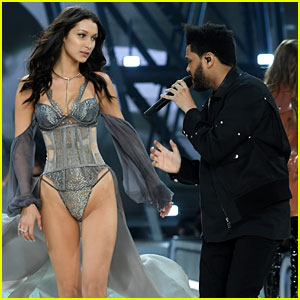 Bella Hadid & The Weeknd Share Moment at Victoria's Secret Fashion Show 2016