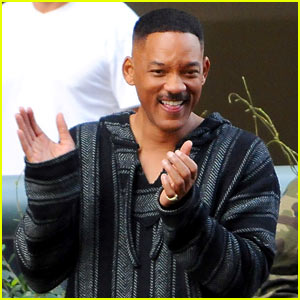 Will Smith Can't Stop Laughing on 'Bright' Set!